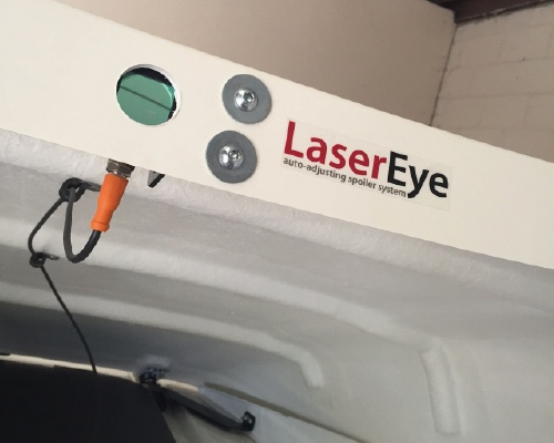LaserEye automatic spoiler adjustment system by Kuda UK