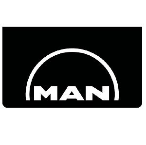 MAN Black/White Mudflaps (Pair)