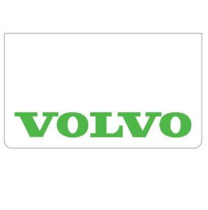 Volvo White/Green Mudflaps (Pair)