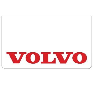 Volvo White/Red Mudflaps (Pair)