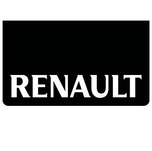 Renault Black/White Mudflaps (Pair)