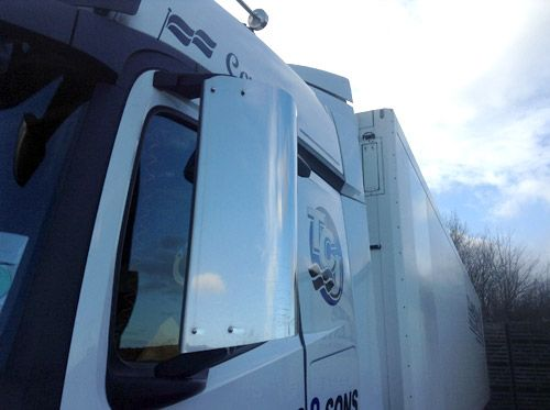 Mercedes Actros Stainless Steel Mirror Guards