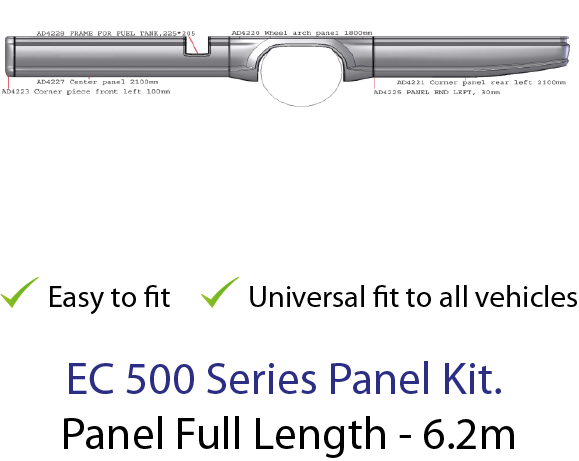 Truck Side Skirt sideskirt