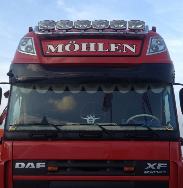 DAF XF 105 Super Space Sunvisor with Integrated Light Slots